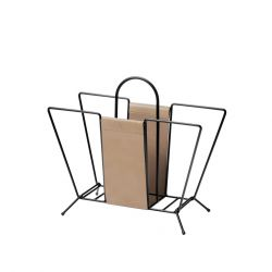 Magazine Rack Suitcase | Black / Nature
