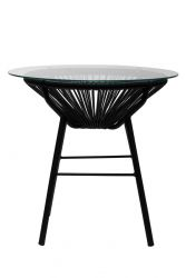Woven Side Table | Black