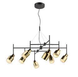 Pendant Lamp Super 8 | Gold & Black