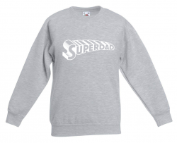 Sweater Superdad Supertext | Grey