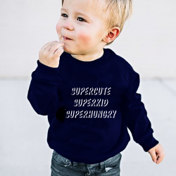 Kinder-Pullover Superkid | Blau