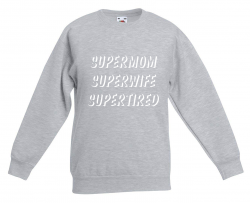 Pullover Supermom | Grau