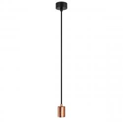 Pendant Lamp CERO 1_S | Copper Leaves + Black