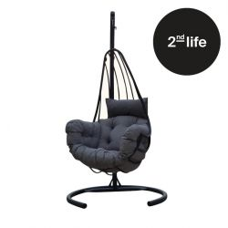 2nd Life | Outdoor Single Swing Chair | Anthracite Grey