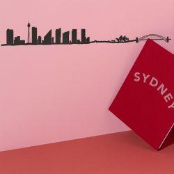 Wanddekoration Sydney Skyline Klein | Schwarz