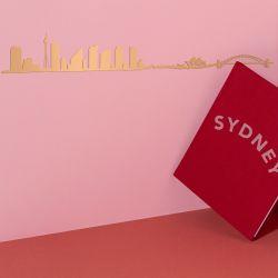 Wanddekoration Sydney Skyline Small | Gold