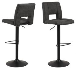 Set de 2 Tabouret de Bar Sylvia | Anthracite
