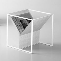 Zin Magazine Rack White