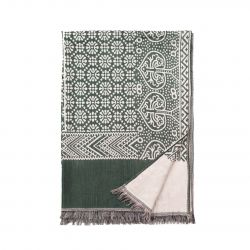 Scarf | Light Beige & Green