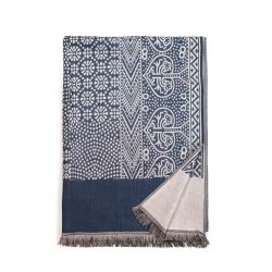 Scarf | Light Beige & Navy