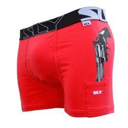 Baumwoll-Boxer-Slip | Cop-Ausgabe Rot