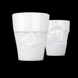 Nr. 1 Becher 2er-Set Grumpy & Impish | Weiß