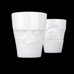 No. 1 Mug Set of 2 Grumpy & Impish | White