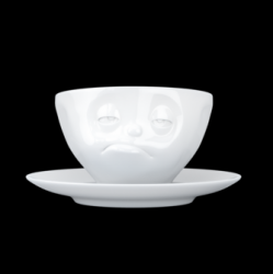 Coffee Cup and Saucer Snoozy | White