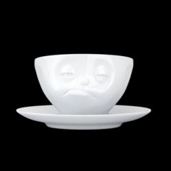 Kaffeetasse und Untertasse Snoozy | Weiß