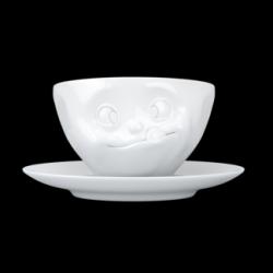 Kaffeetasse und Untertasse lecker | Weiß