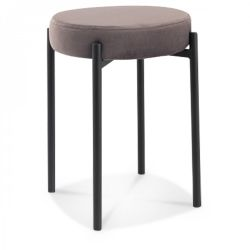 Hocker Jack Velvet | Anthrazit