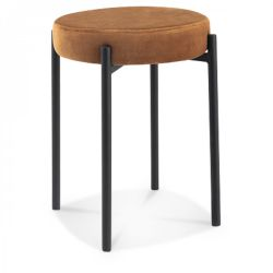 Stool Jack Velvet | Kraft Brown