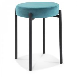 Hocker Jack Velvet | Saxo Blue