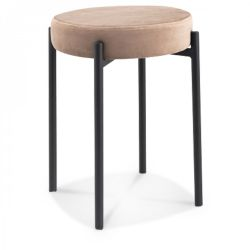 Tabouret Jack Velours | Taupe