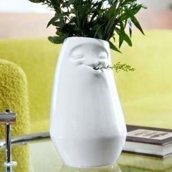 Zurückgelegte Vase | Weiß
