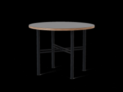 Table Basse Pento 60 x 60 x H 45 cm | Noir