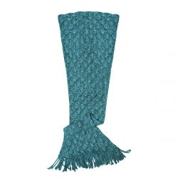 Knit Mermaid Tail Blanket (Womens / Teen) | Teal