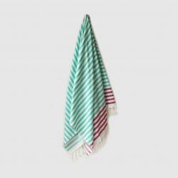 Sheker Hammam Towel | Teal & Amethyst