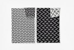 Tea Towels - Bits/Static - Set of 2 | Black & White