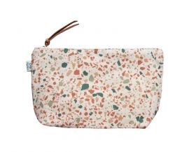 Cosmetic Bag | Terrazzo Terracotta Green