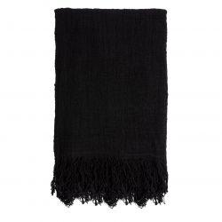 Handgeweven Plaid 200 x 130 cm | Zwart