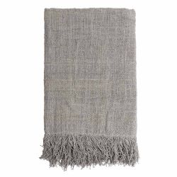 Handwoven Plaid 200 x 130 cm | Light Grey