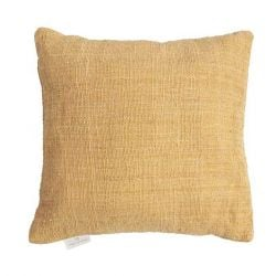 Handwoven Cushion Jute 60 x 60 cm | Yellow