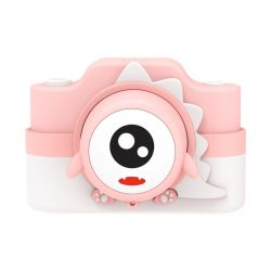 Digital Camera for Kids 24 MP | Pink Dinosaur