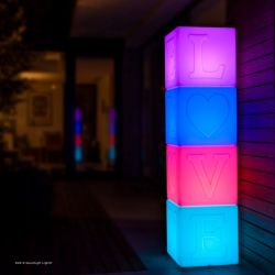 Multicolour LED Waterproof Love Lamp | Set of 4