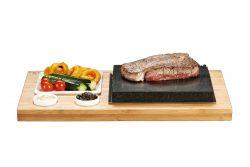 Atemberaubendes Steak-Platten- und Saucen-Set