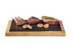 Die gemeinsame Steakplatte