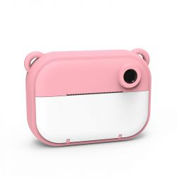 Instant Print Camera for Kids 12 MP | Pink Bear