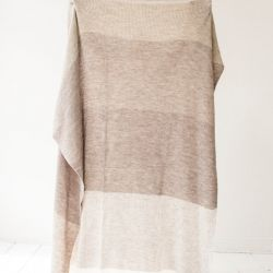 Evening Shadow Blanket |  Seashell Different Tones and White