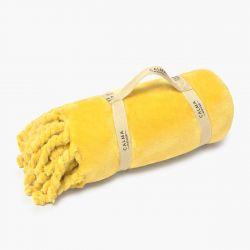 Fleecedeken 120x180 | Mustard
