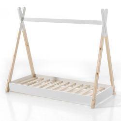 Tipi-Bett 90 x 200 cm | Weiß