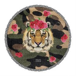 Roundie Beach Towel Tiger Rose