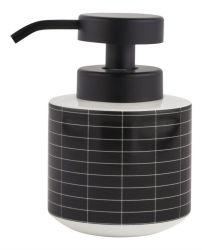 Dispenser Fliesen Stein niedrig | Schwarze Fliesen
