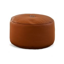 Pouf Tiny Moon | Leather | Cognac
