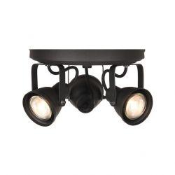 LED Spot Aken 3 leuchtet | Schwarz