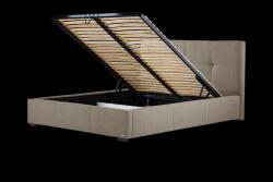 Gepolstertes Bett Cobalt mit Staumöglichkeit | Braun