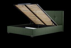 Gepolstertes Bett Cobalt mit Staumöglichkeit | Grün