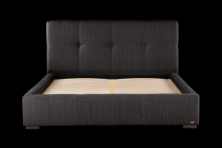 Upholstered Bed Cobalt | Dark Grey