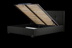 Gepolstertes Bett Cobalt mit Staumöglichkeit | Schwarz