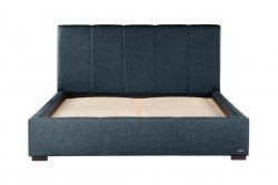 Gepolstertes Bett Onyx | Marineblau